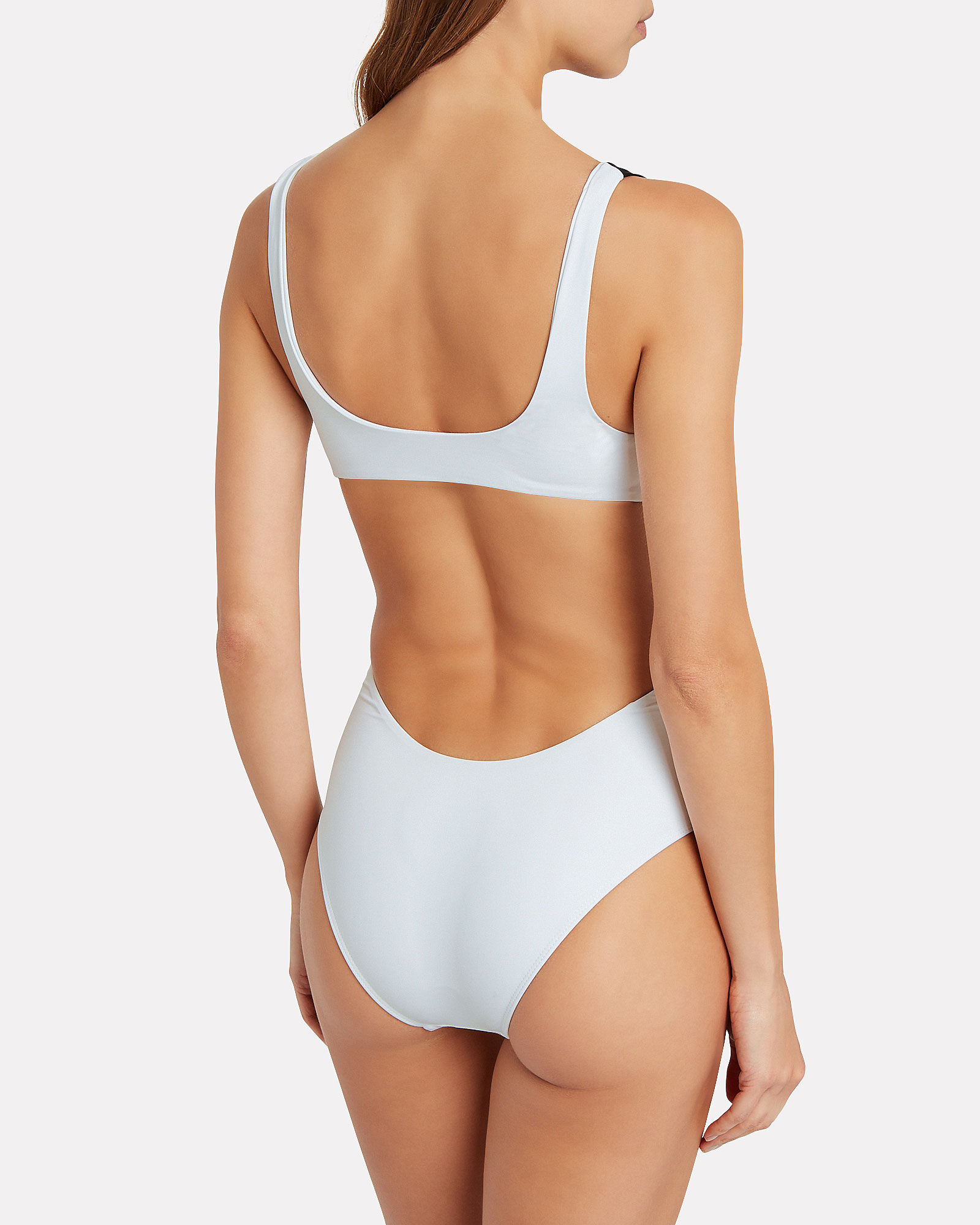 Jenny One-Piece Swimsuit, WHITE/BLACK, hi-res