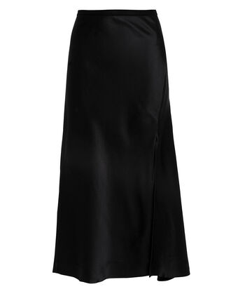 Dolly Silk Skirt, BLACK, hi-res