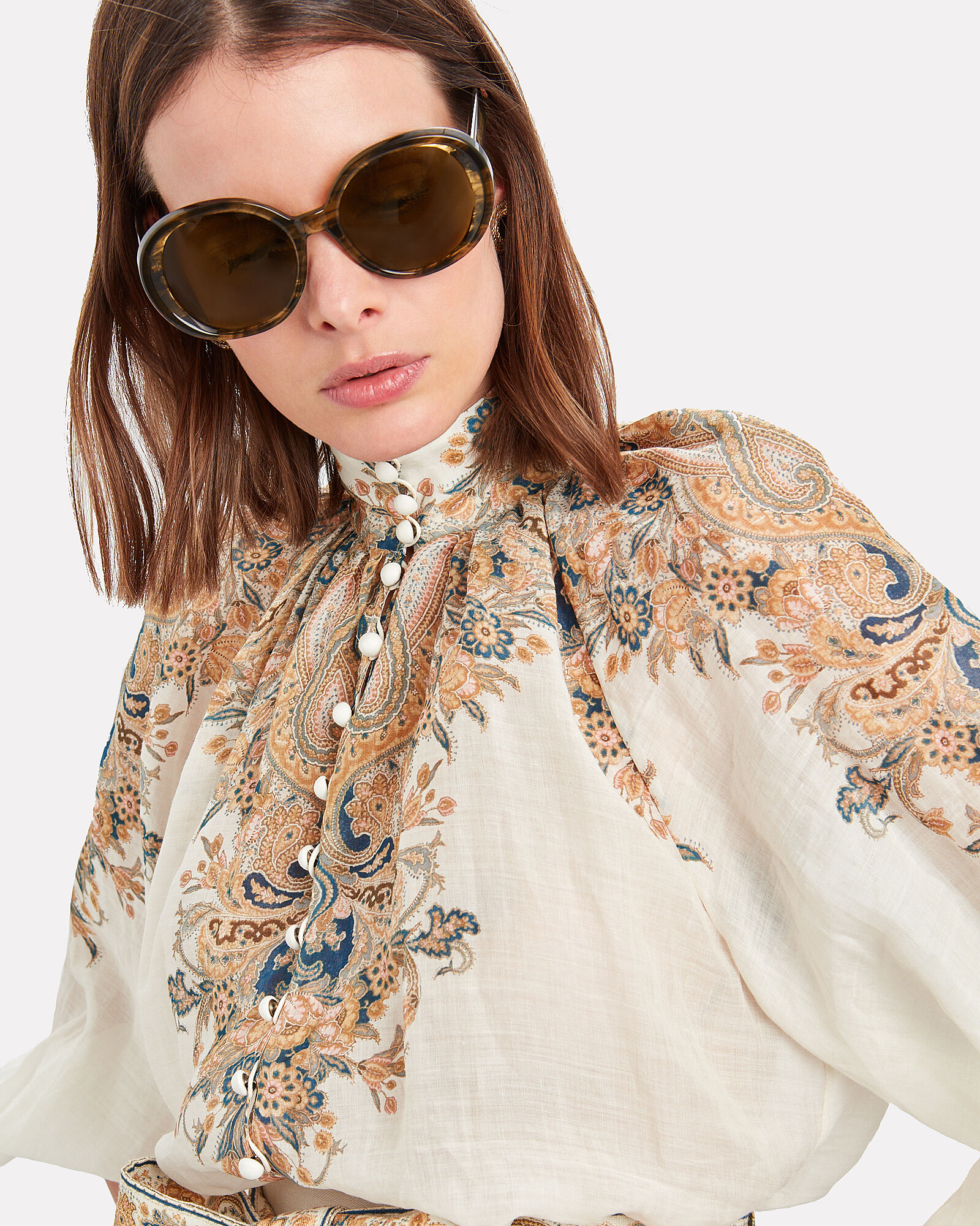 Leidy Oversized Sunglasses, BROWN, hi-res