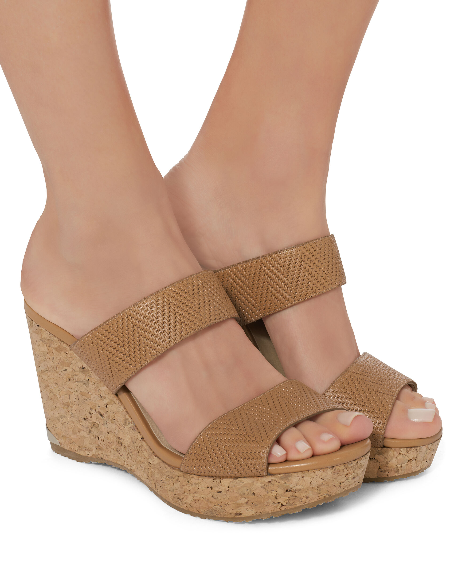 Parker Wedge Sandals, BROWN, hi-res