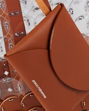 Pacoio Leather-Trimmed Vinyl Tote Bag, BROWN, hi-res