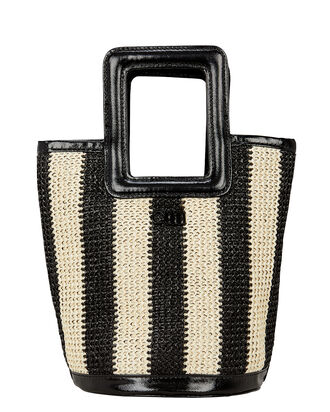 Pookie Square Handle Tote, BLK/WHT, hi-res
