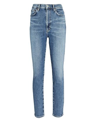 Pinch Waist Skinny Jeans, AMPED, hi-res
