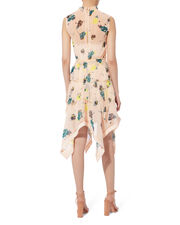 Asymmetric Graphic Floral Print Dress, MULTI, hi-res