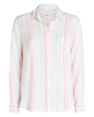 Charli Matera Stripe Button Down, GREEN/PINK, hi-res