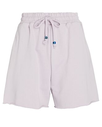 Logo Cotton Terry Sweat Shorts, LIGHT PURPLE, hi-res