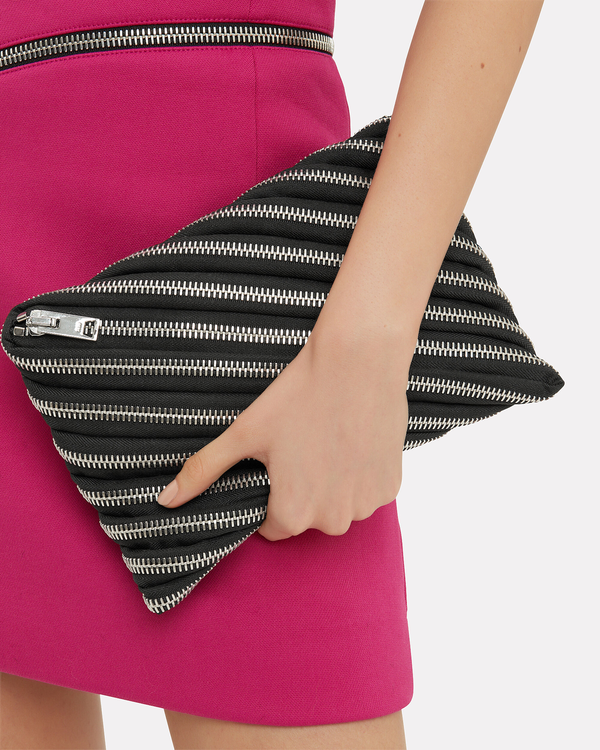Unzip Black Clutch, BLACK, hi-res
