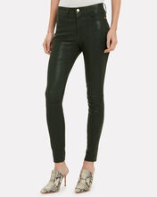 Le Skinny High Rise Leather Pants, PINE, hi-res