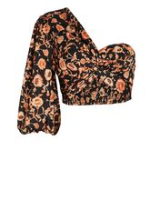 Starmist Floral One-Shoulder Top, MULTI, hi-res