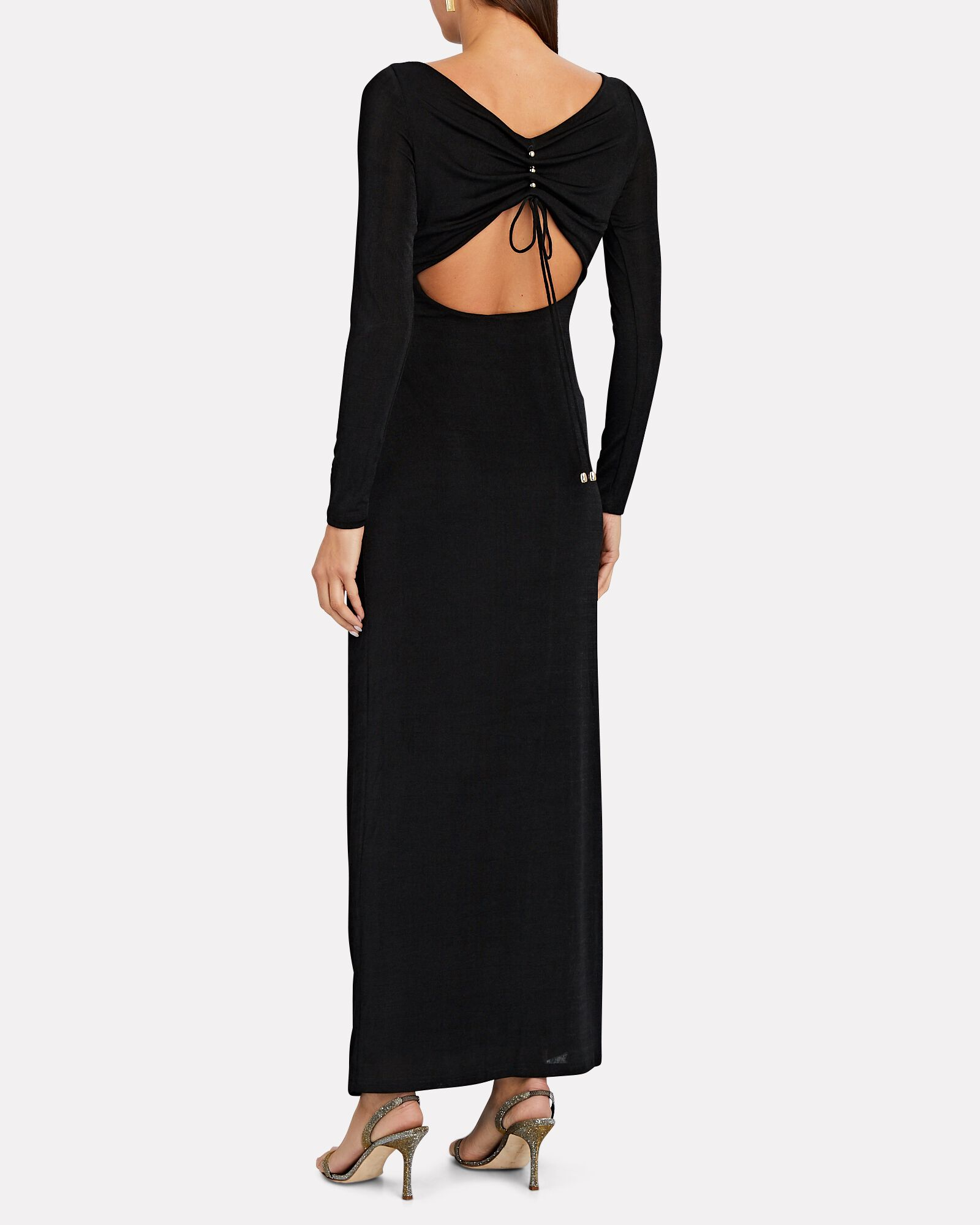 Bambi Long Sleeve Maxi Dress, BLACK, hi-res
