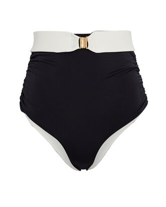 Victoria High-Rise Bikini Bottoms, BLACK, hi-res