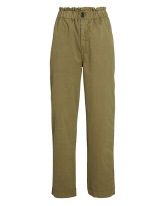 Tournon Straight-Leg Twill Pants, OLIVE, hi-res
