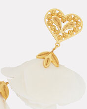 Bella Heart Blossom Drop Earrings, WHITE/GOLD, hi-res