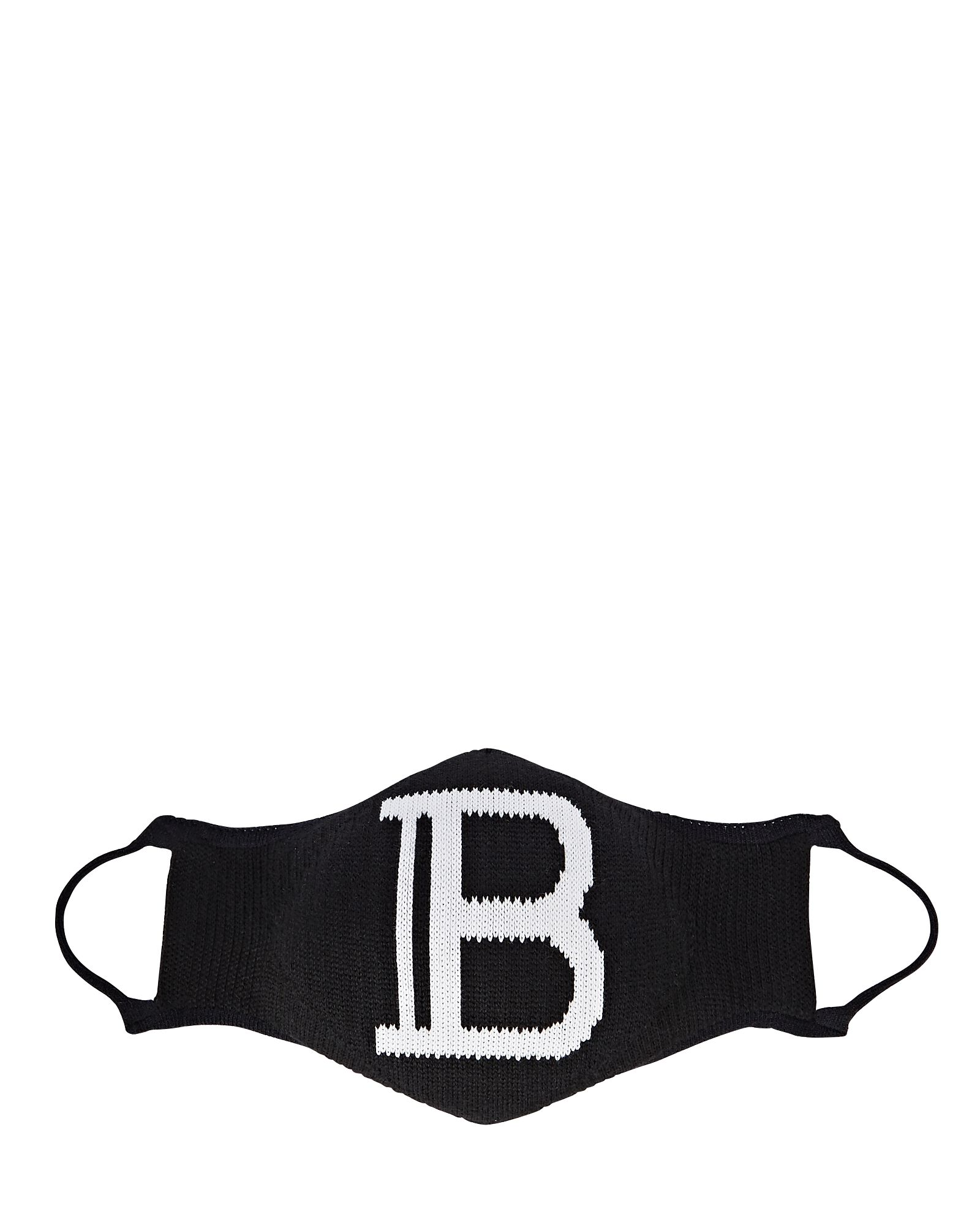 Logo Knit Face Mask, BLACK, hi-res