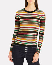Canal Stripped Sweater, BLACK/STRIPE, hi-res