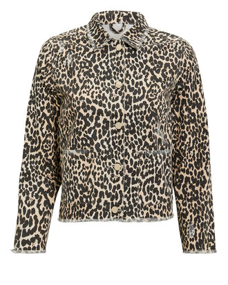 Kayla Leopard Jacket, BROWN, hi-res