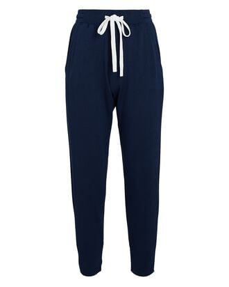 Cropped Fleece Joggers, NAVY, hi-res