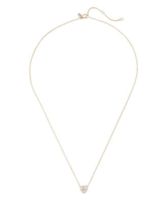 Topaz Heart Diamond Choker Necklace, GOLD, hi-res