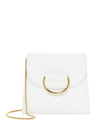 D Tiny Box White Shoulder Bag, WHITE, hi-res
