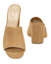 Mar Brown Suede Slides, BROWN, hi-res