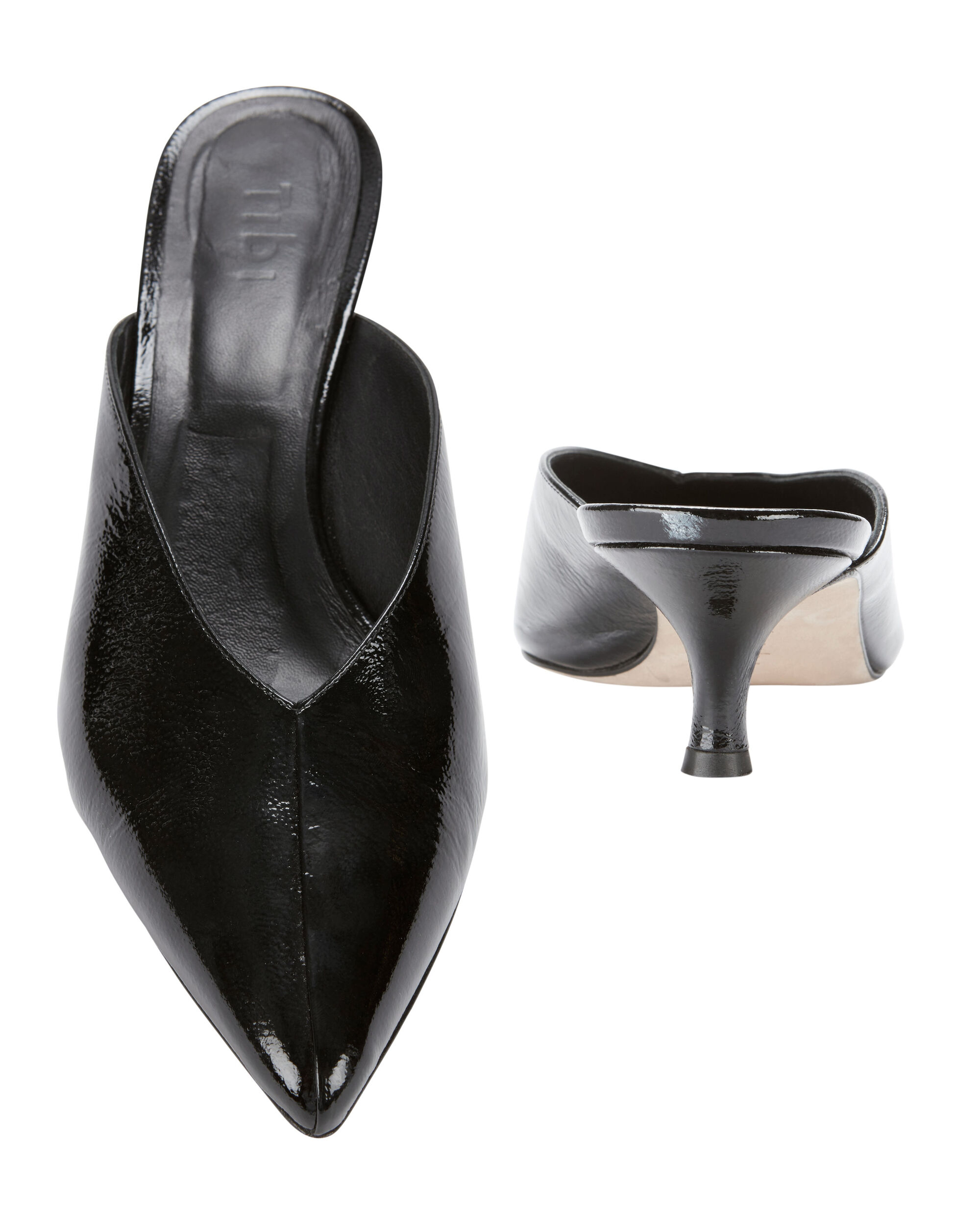 Frank Black Patent Leather Mules, BLACK, hi-res