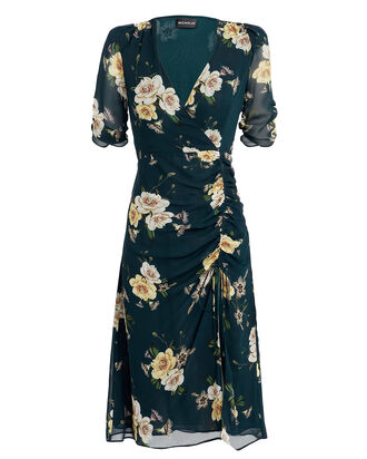Tea Floral Midi Dress, MULTI, hi-res