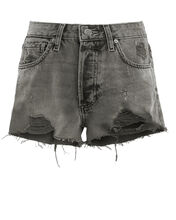 The Cody Distressed Denim Shorts, CHARCOAL DENIM, hi-res