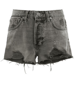The Cody Distressed Shorts, CHARCOAL DENIM, hi-res