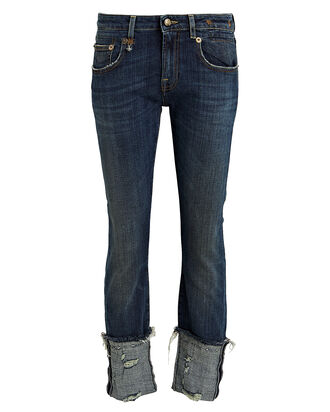 Boy Cuffed Skinny Jeans, DARK WASH DENIM, hi-res