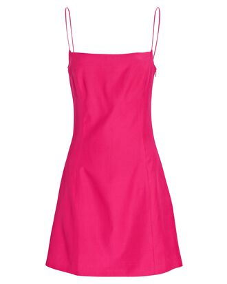 Toyama Silk Mini Camisole Dress, PINK, hi-res