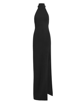 Zadid Black Turtleneck Dress, BLACK, hi-res