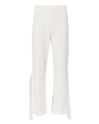 Salma Cropped Flare Pants, WHITE, hi-res