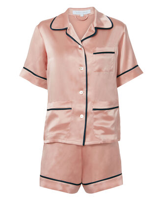 Millicent Oyster Silk Pajama Set, BLUSH, hi-res