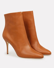 Insopo Leather Booties, BROWN, hi-res