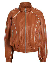 VanaGZ Leather Track Jacket, CAMEL, hi-res