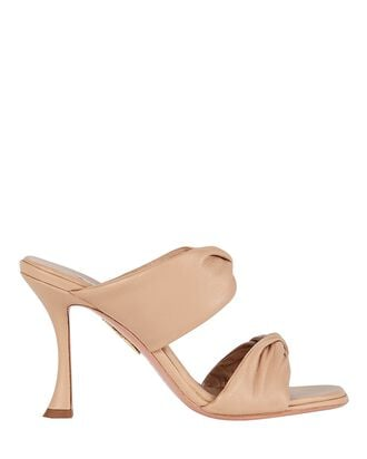 Twist 95 Leather Sandals, BEIGE, hi-res