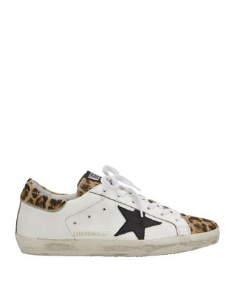 Superstar Leopard Low-Top Sneakers, WHITE, hi-res