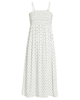 Willow Polka Dot Cotton Dress, WHITE/BLACK, hi-res