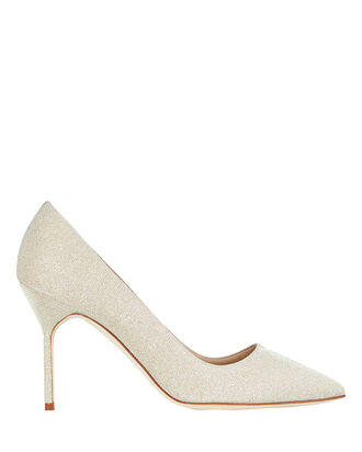 BB Metallic Suede Pumps, GOLD, hi-res