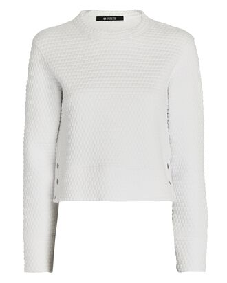 Sideline Crewneck Sweater, WHITE, hi-res