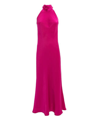 Sienna Satin Midi Dress, DARK PINK, hi-res