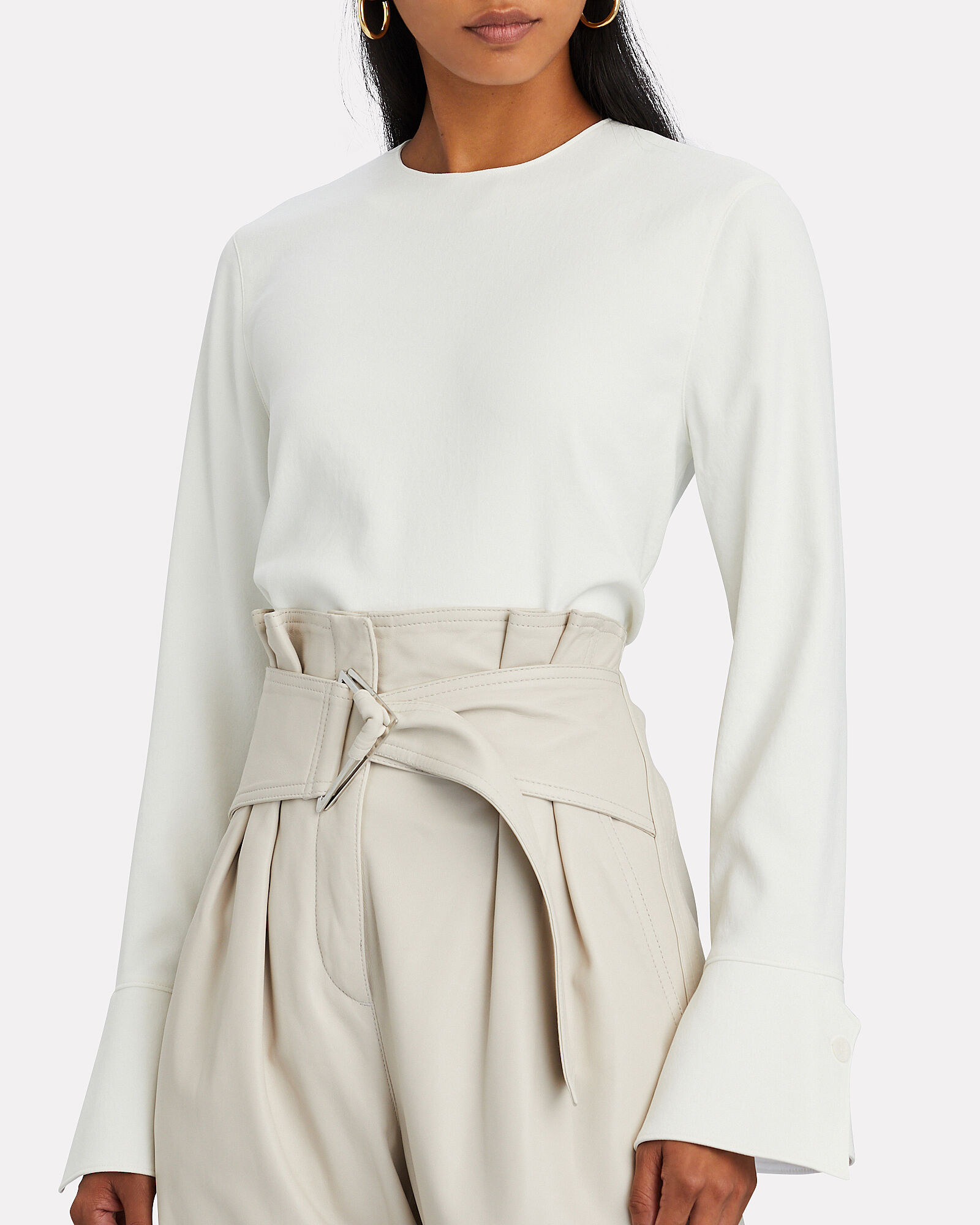 Chalky Bell Sleeve Top, IVORY, hi-res