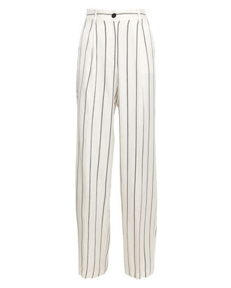 Ryan Striped Wide-Leg Trousers, BLK/WHT, hi-res