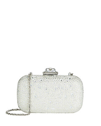 Spider Jewel Box Clutch, SILVER, hi-res