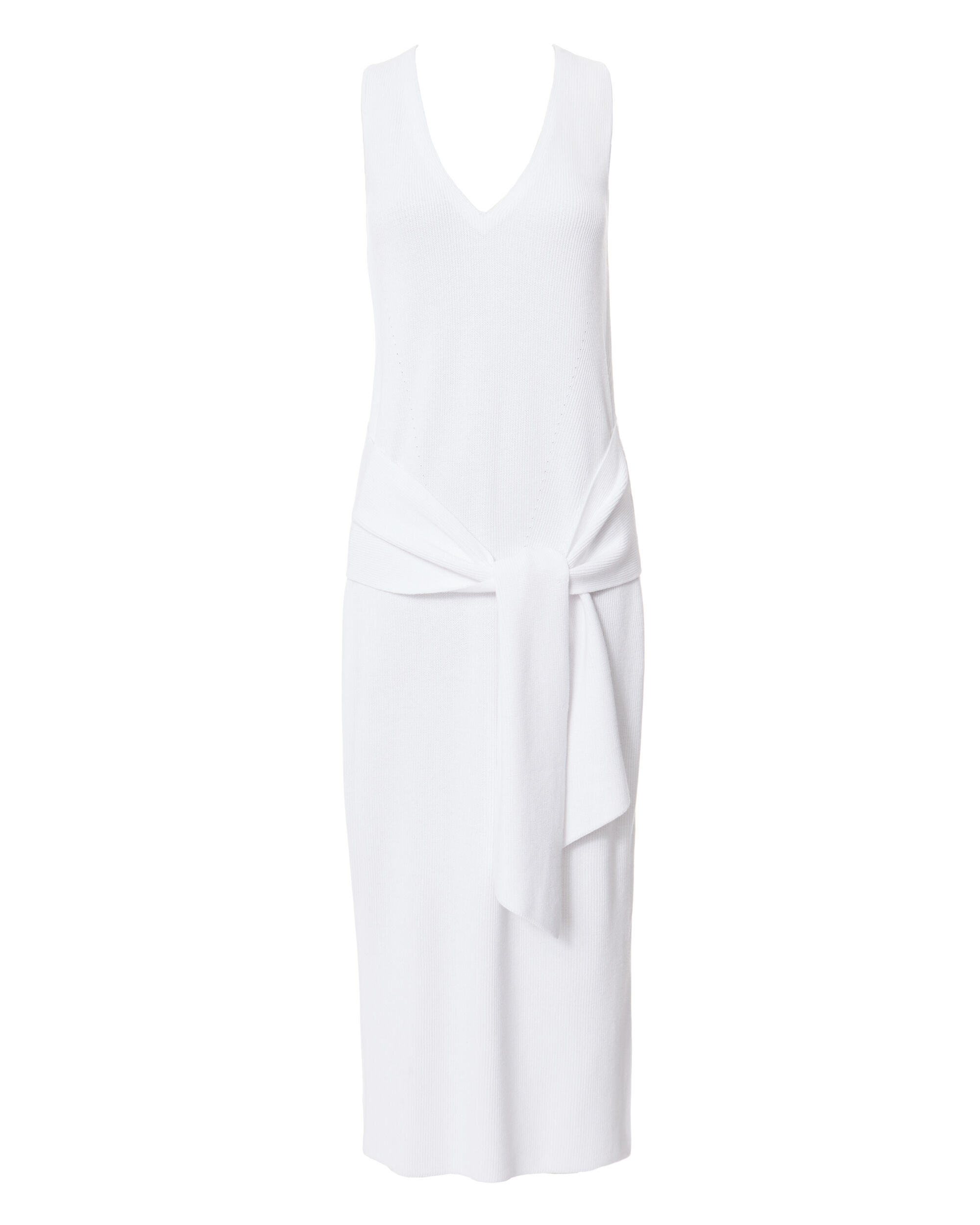 Michelle Tie Front Sweater Dress, WHITE, hi-res