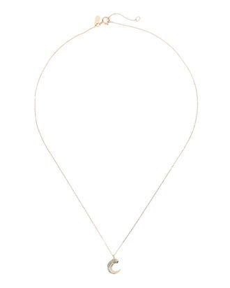 Heirloom Moon Curve Necklace, GOLD, hi-res