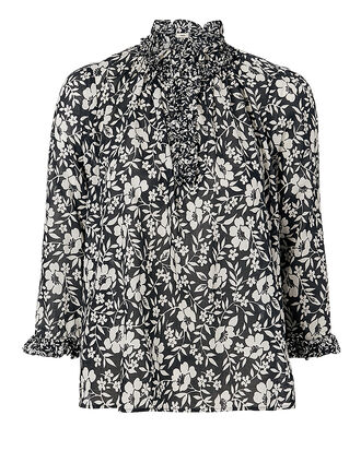 Ines Floral Blouse, BLACK, hi-res
