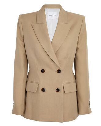 Miroux Double-Breasted Blazer, BEIGE, hi-res