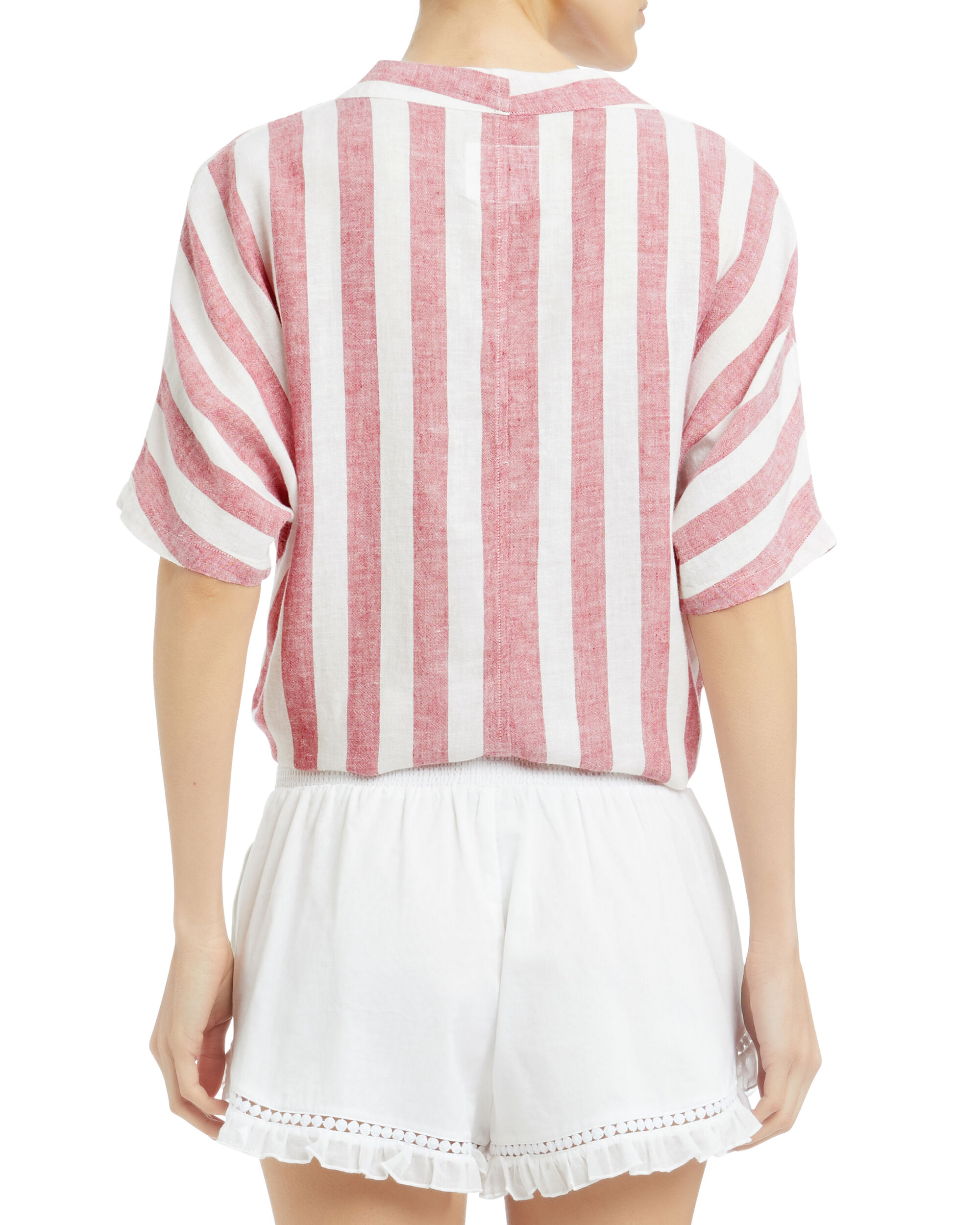 Thea Striped Cropped Top, MULTI, hi-res