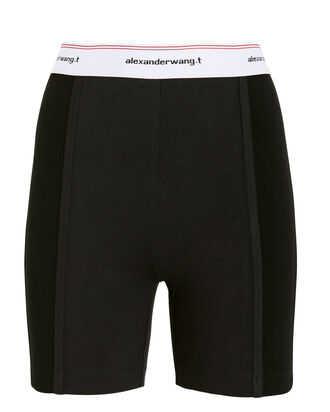 Wash & Go Logo Biker Shorts, BLACK, hi-res